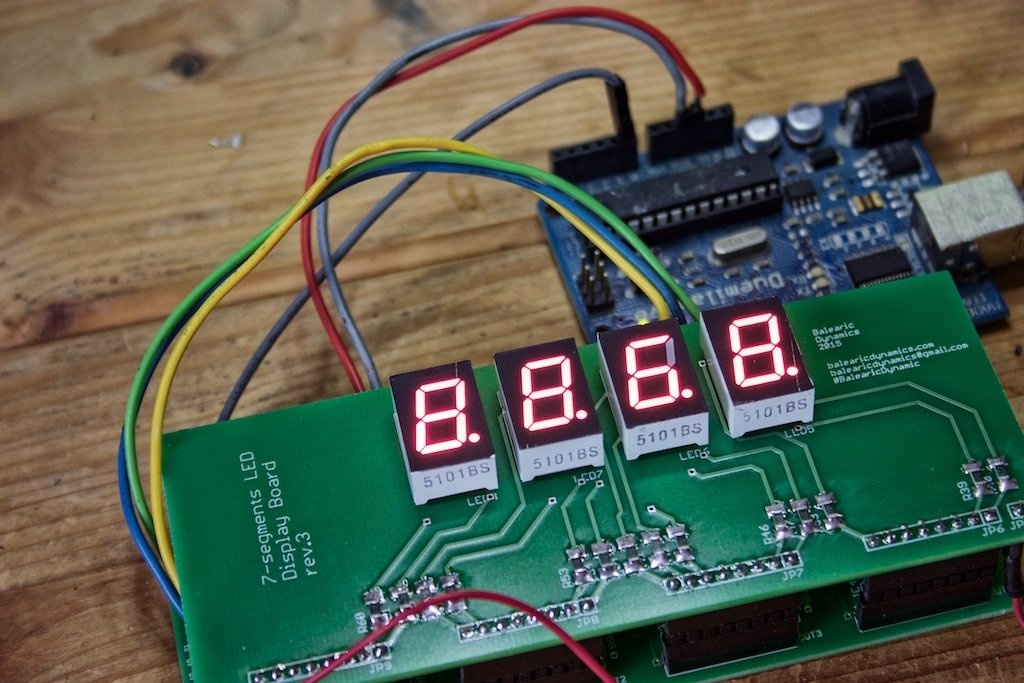Segments led display arduino kit from alicemirror on tindie