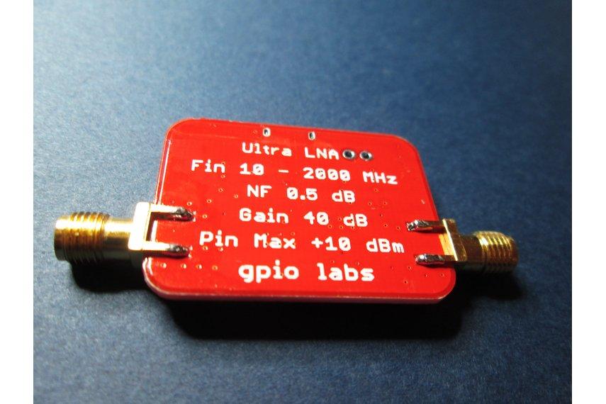 Ultra Low Noise Amplifier Gain 40dB; 0.01 - 2GHz