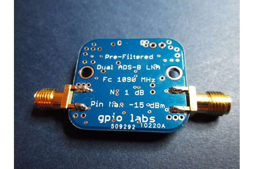 Pre Filtered ADS-B Ultra Low Noise Amplifier LNA