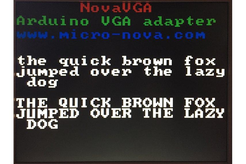 NovaVGA - Arduino graphics shield