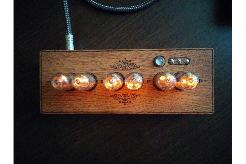 In-8-2 Steampunk Nixie Tube Clock+Power Supply Set