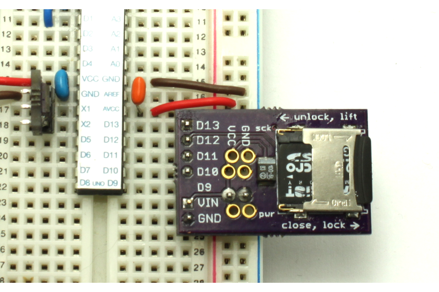 MicroSD breakout board for Arduino