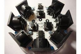 midihub  6-way MIDI Thru and Metronome Module