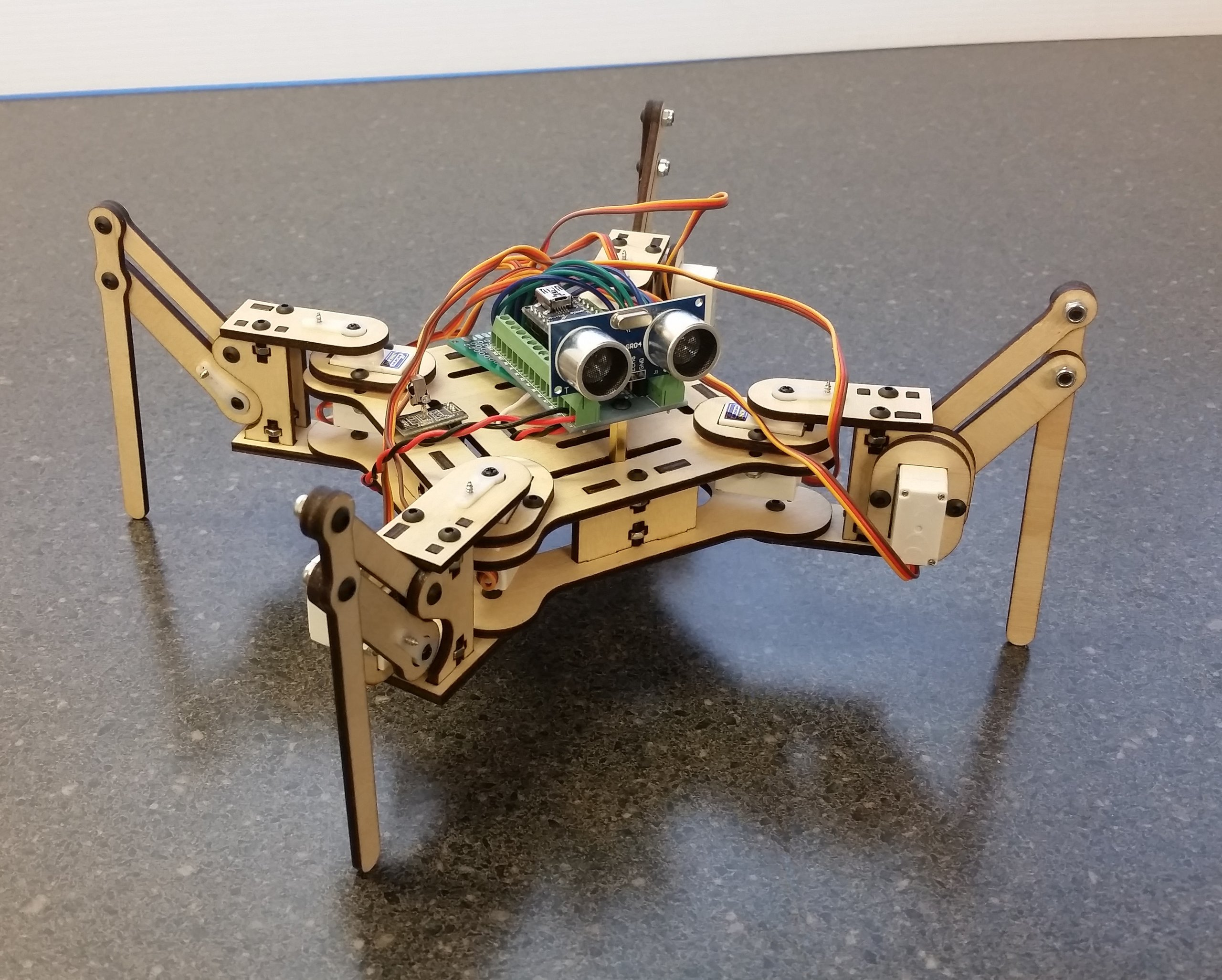 Meped quadruped robot kit from spiercetech on tindie