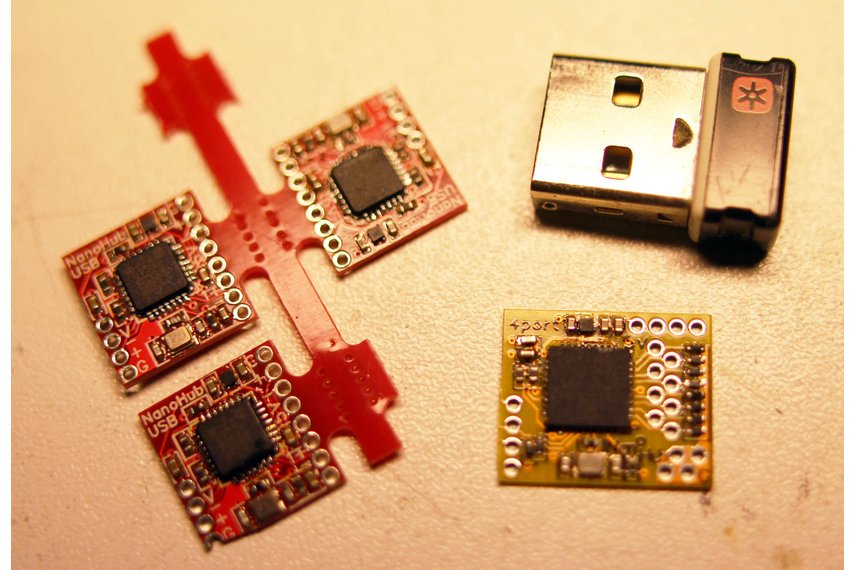4-port NanoHub - tiny USB hub for hacking projects