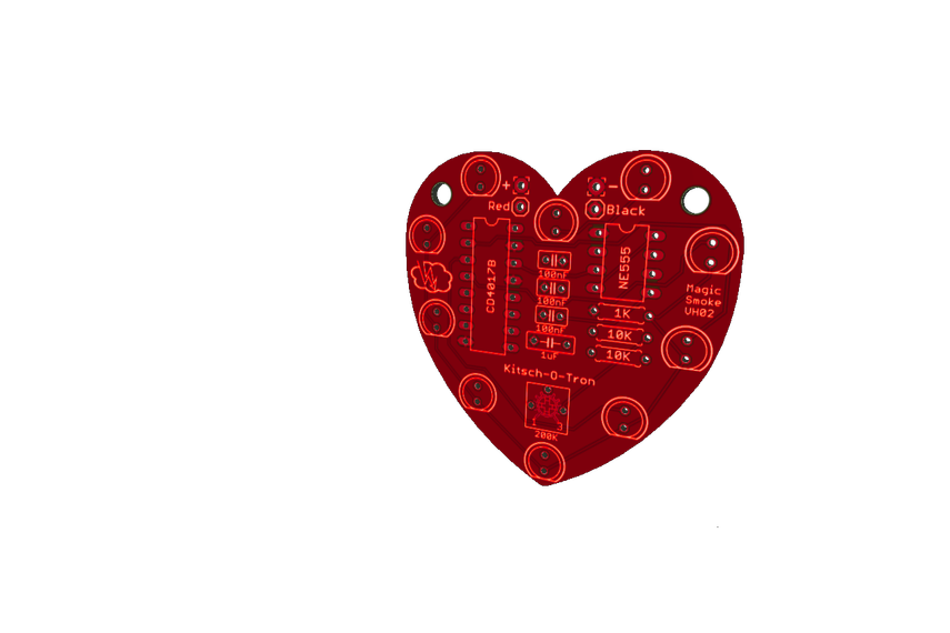 Heart-Shaped LED Chaser (Kit)
