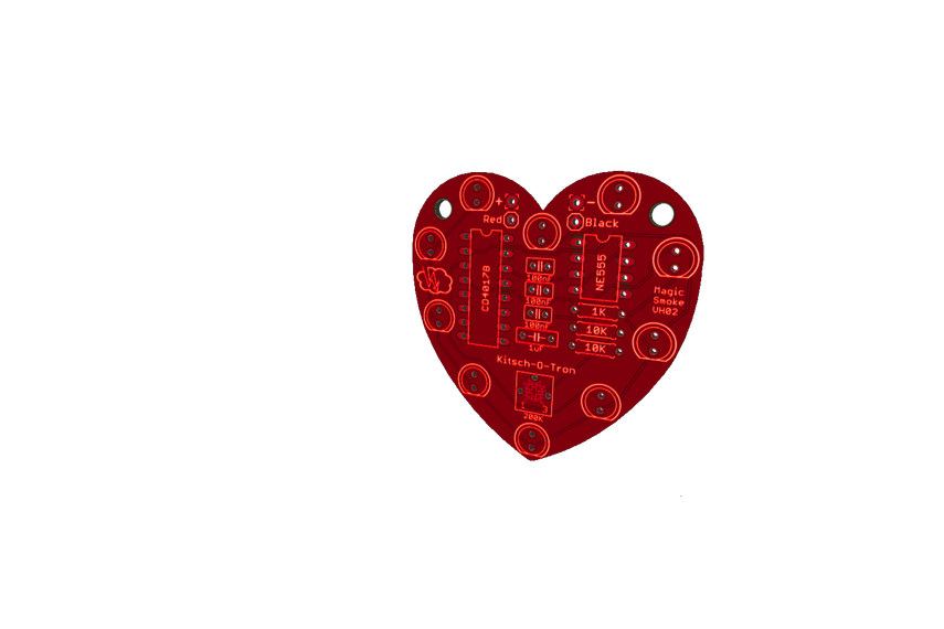 Heart-Shaped LED Chaser (Bare PCB)