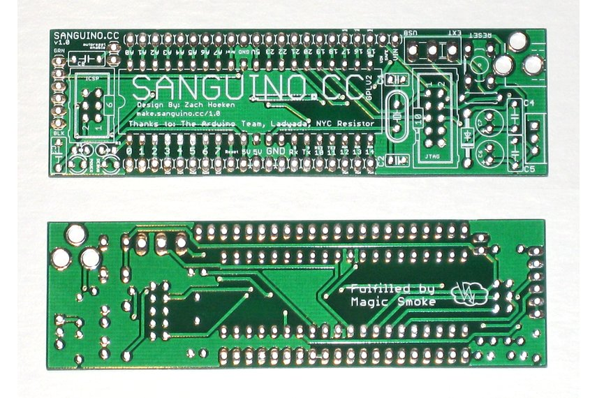 Sanguino ATmega1284P Development Board PCB