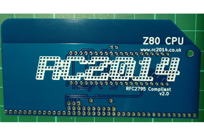 Z80 CPU Module v2.0 for RC2014 homebrew computer