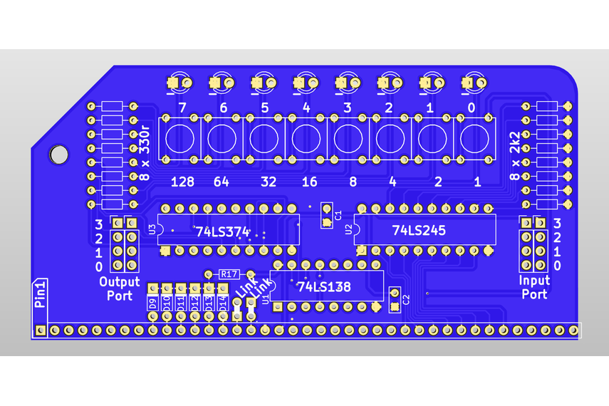Digital IO Module For RC2014 Z80 Homebrew Computer