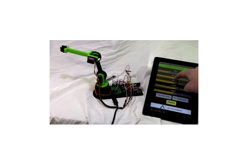 Littlearm d printed arduino robot arm kit from