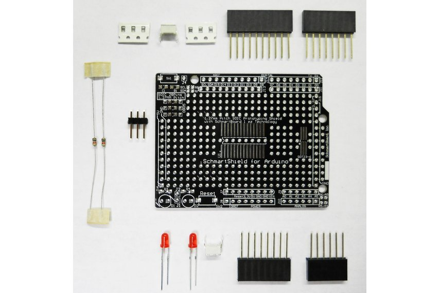 Soic surface mount prototype kit arduino uno from