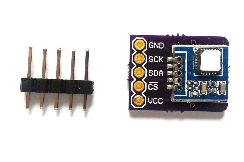 Si7005 temperature, humidity sensor breakout board