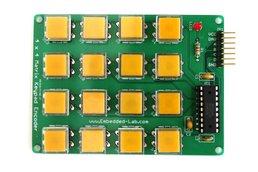 Encoded matrix keypad (16-switch)