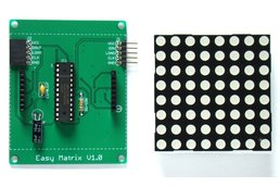 Easy Matrix: A cascadable LED matrix module (Kit)