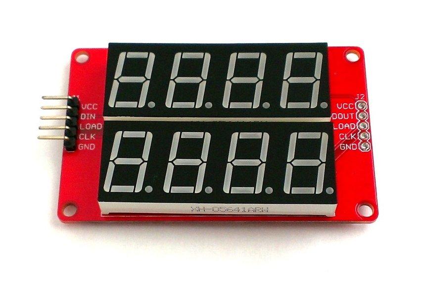 Double row 4-digit seven segment LED display-BLUE