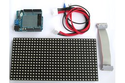 16x32 RGB Matrix panel with an Arduino Uno  shield