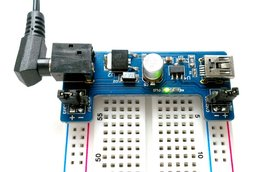 Dual output (5.0V/3.3V) breadboard power supply