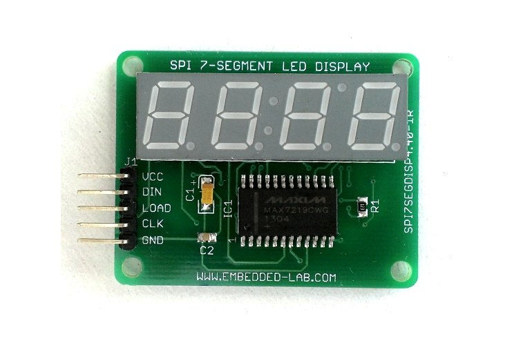 SPI 4-digit Seven Segment LED Display From Rajbex On Tindie