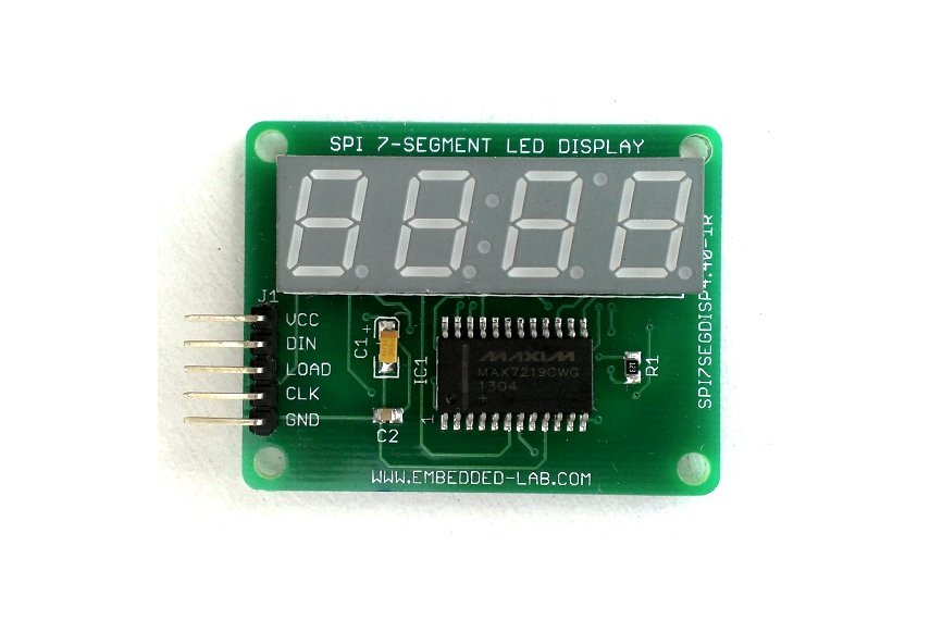 SPI 4-digit seven segment LED display