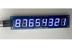 SPI7SEGDISP8.56: Eight digit serial (SPI) seven segment LED display (Blue)