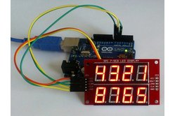Double row 4-digit seven segment (Red) LED display module with SPI interface