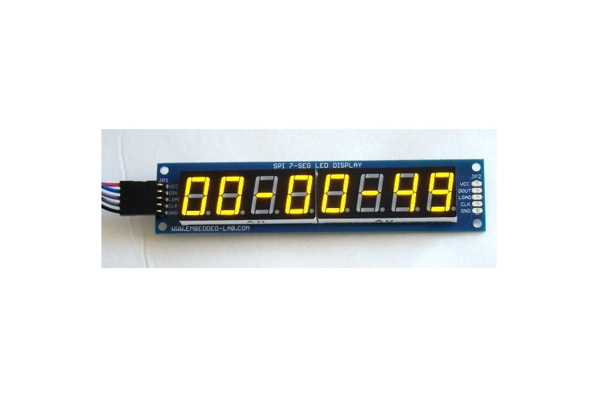 PCB for serial 7 segment LED display