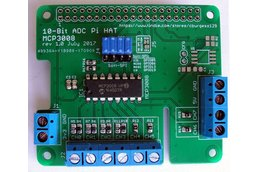 Raspberry Pi 10-Bit, 8-Channel ADC Board (HAT)