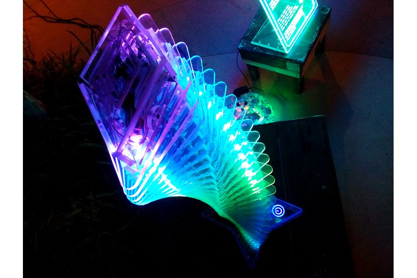 Interactive light effect tower