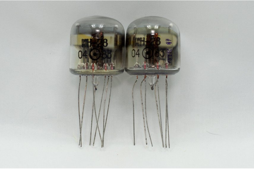 2x IN-28 ИН-28 IN28 ИН28 NIXIE INDICATOR TUBES NOS
