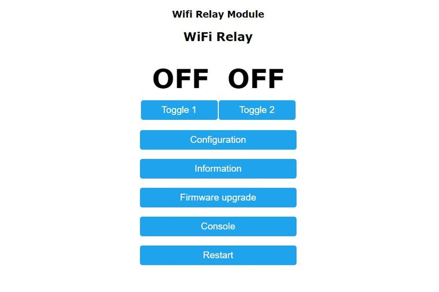 Wi-Fi Controlled Dual Relay w/Ext Antenna Jack