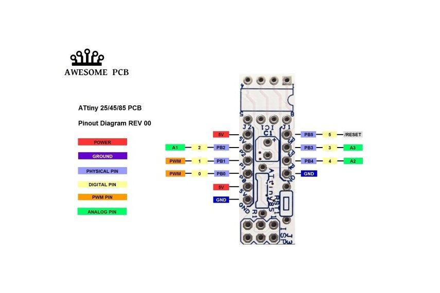 ATtiny85 - TINY VERSATILE ARDUINO COMPATIBLE