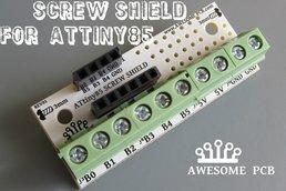 SCREW SHIELD for ATtiny85 PCB