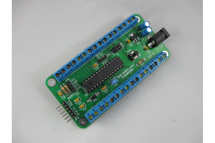 Arduino with screw terminals (Screwduino)