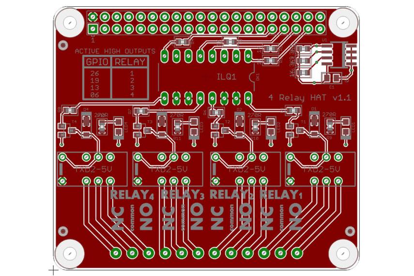 4 channel Raspberry Pi Relay Hat