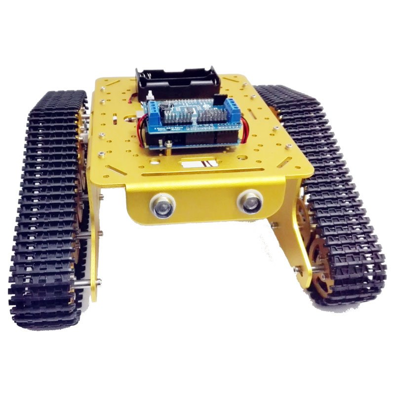 Wireless wifi metal tank car chassis with arduino from