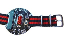 Led wristwatch retro QDSP6064 bubble display
