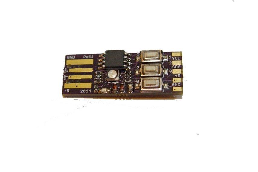PicoDuino AtTiny85, RGB LED, 3+1 Buttons (HID)