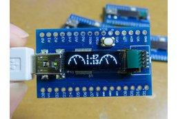 Zero LONG, a wider OLED SAMD21G18A board/w microSD