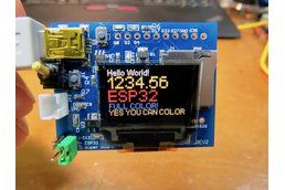 ESP32 dev board /w Full Color OLED