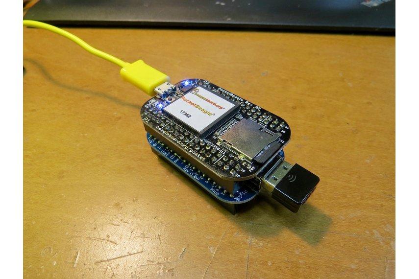 USB host cape for the PocketBeagle