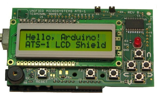 Ats lcd terminal shield for arduino from garysxt on tindie