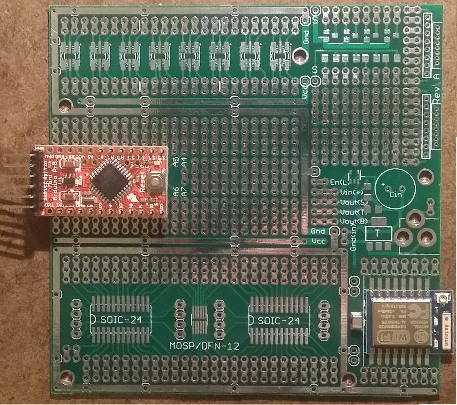 Project board for arduino pro mini from drazzy on tindie