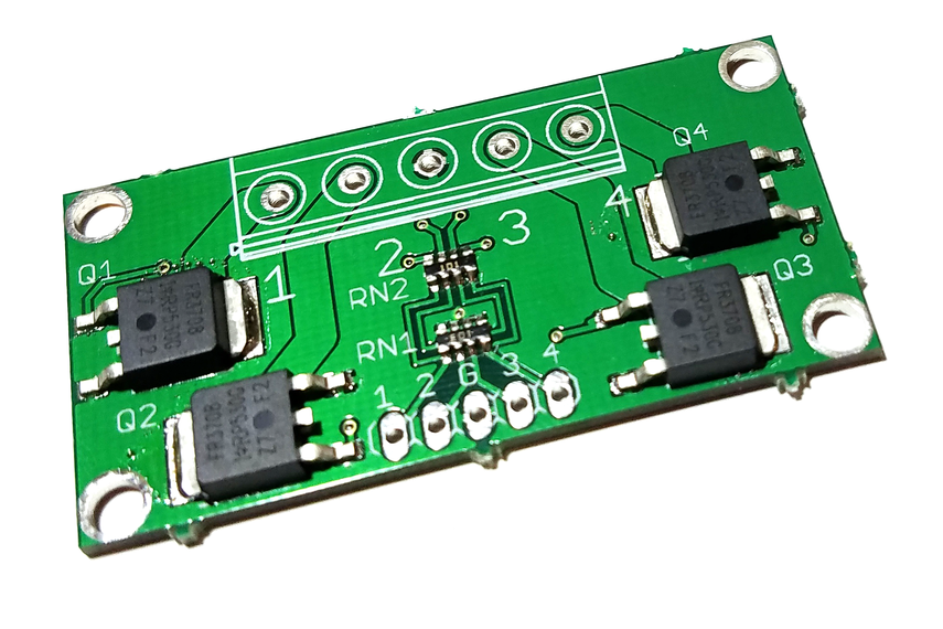 4-CH 2.8V logic level MOSFET board up to 30V/60A