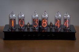 IN-14 Nixie Tube Clock Black Enclosure