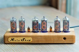 IN-14 Nixie clock in wooden case