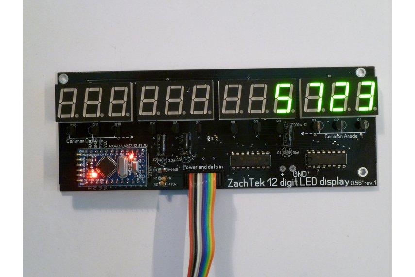 Big 12 Digit LED Display
