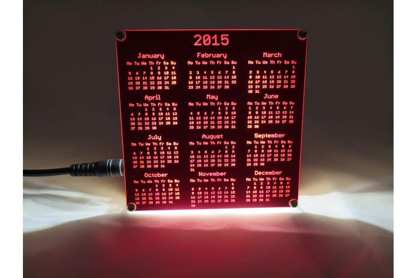 Backlight Stand for PCB Calendar