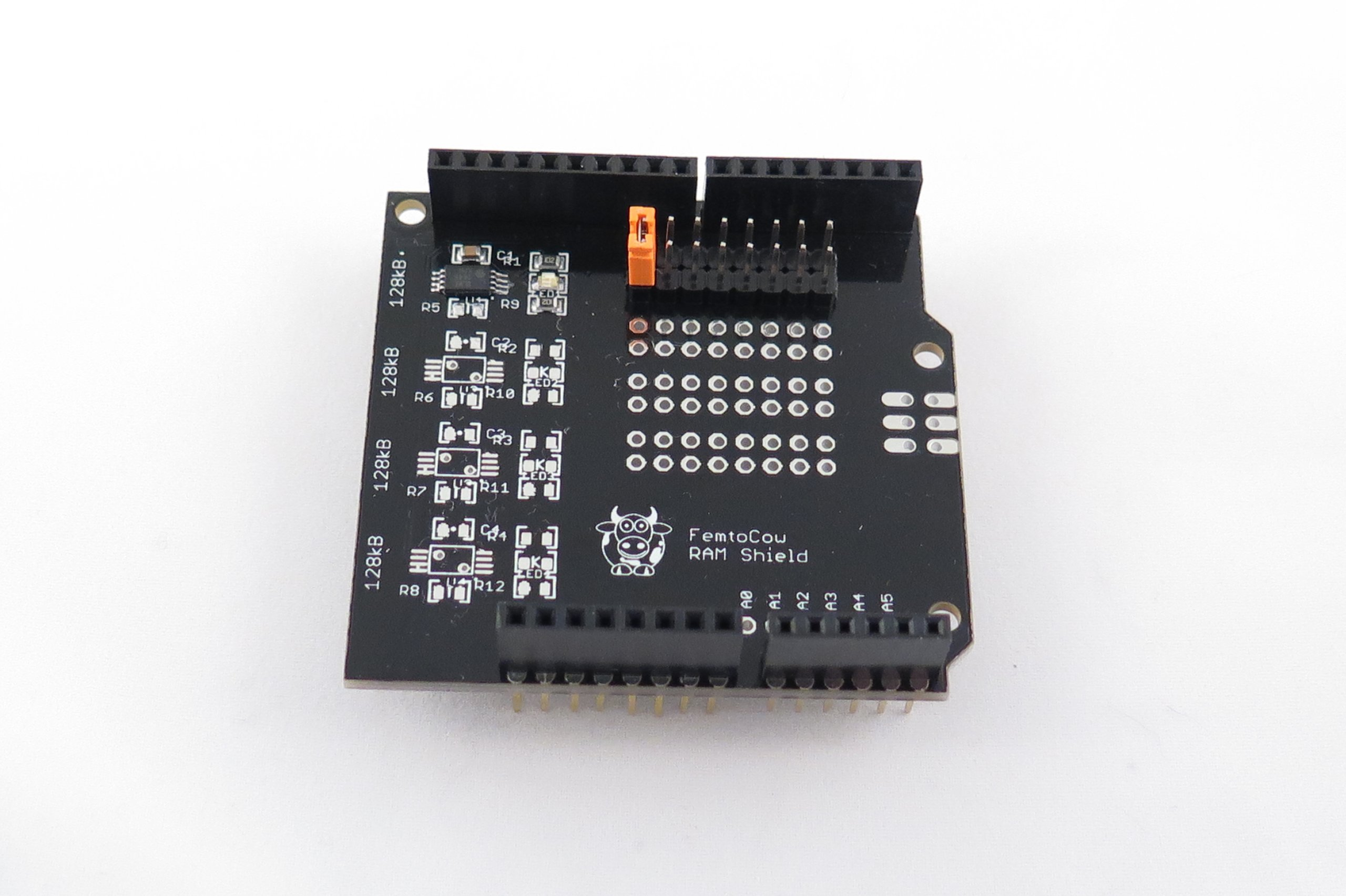 Spi ram shield for arduino from femtocow on tindie