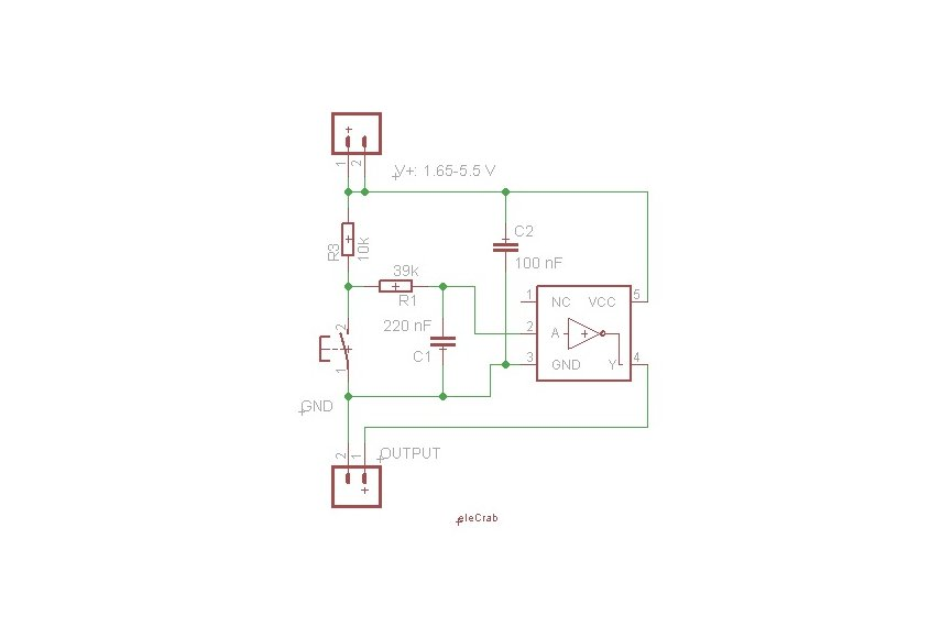 Switch board with debouncing circuitry